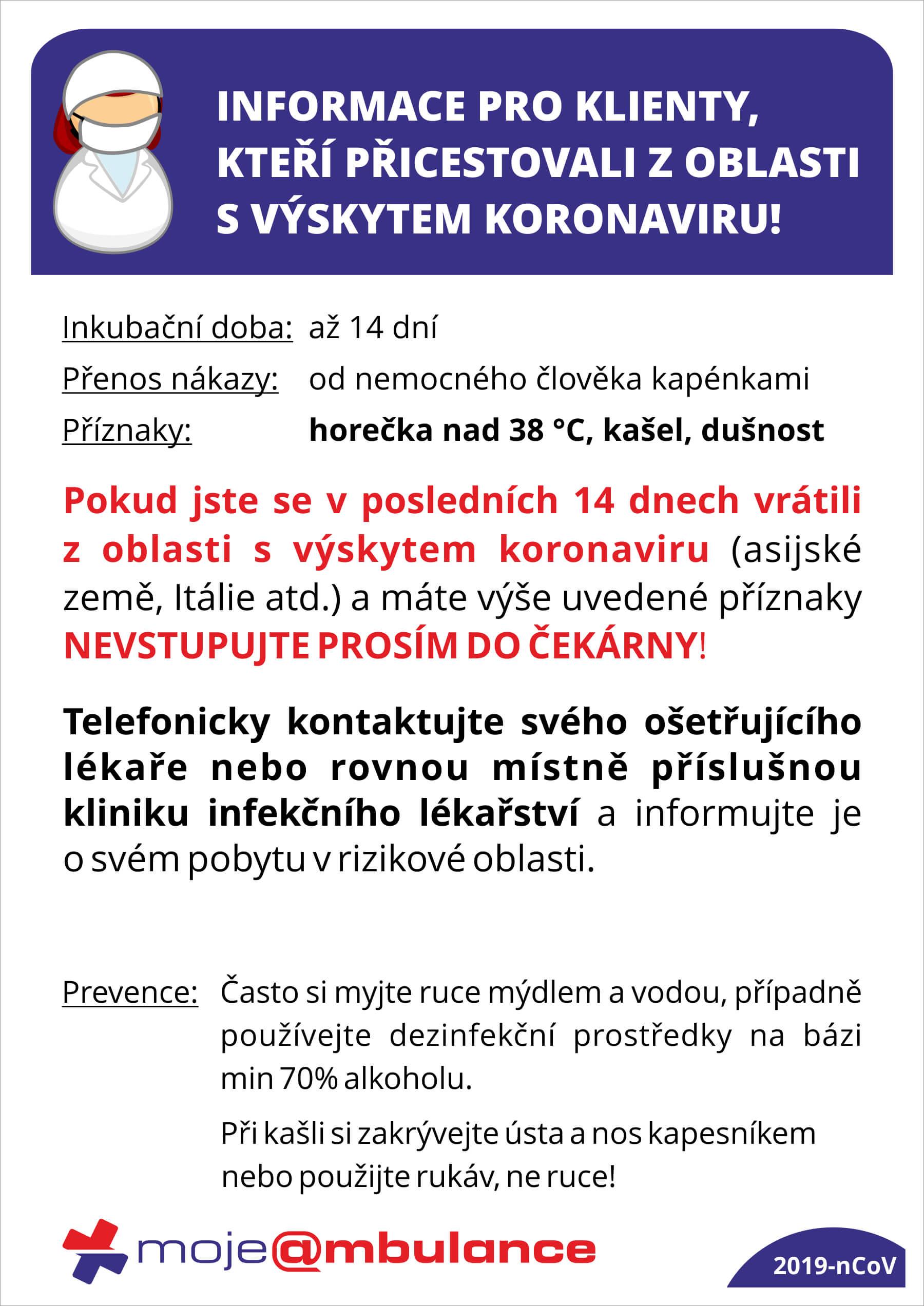 Koronavirus 2019 Ncov Mojeambulance Cz